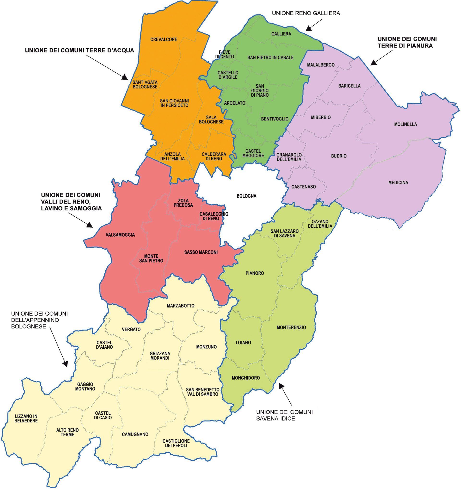 Provincia Bologna Cartina.Uffici Per Le Imprese E I Cittadini Cna Bologna